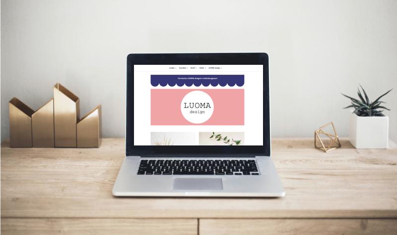 LUOMA Design verkkokauppa näyttöpäätteellä
