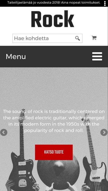 Rock mobiilinäkymä